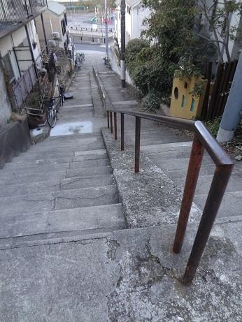上高田の石段2