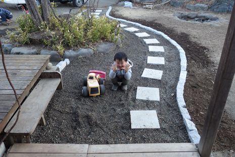 お庭の小道