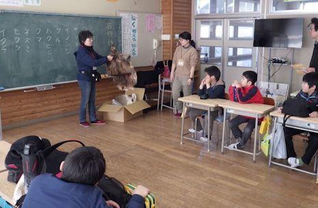 教室で特別授業