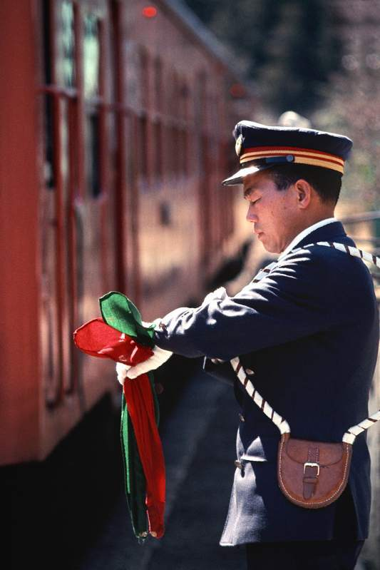 八高線 竹沢駅 駅員 1989年11月13日 原版 take1b
