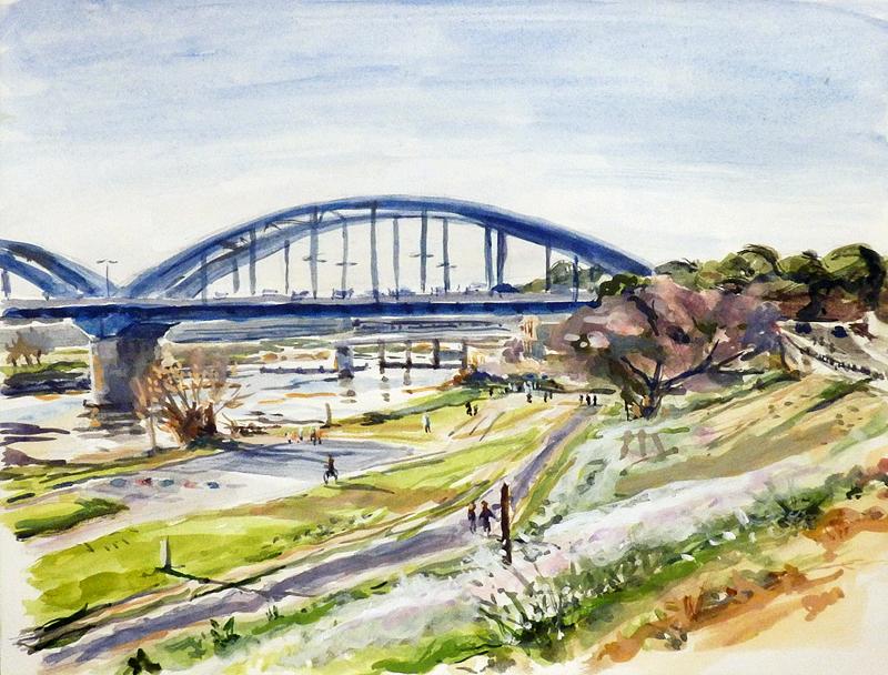 春。多摩川