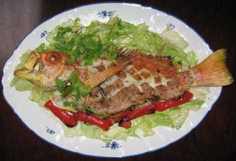 海魚の香草オーブン焼き
