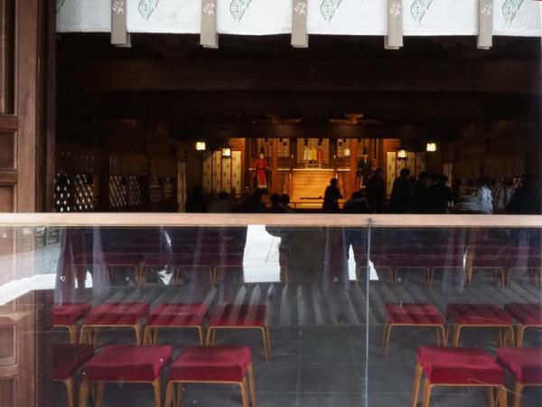 大原野神社拝殿内