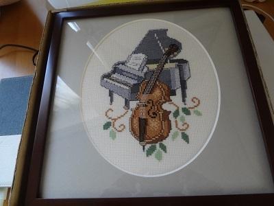 額装「チェロとピアノ」(縮小)