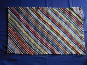 残り毛糸でブランケットー2-180314