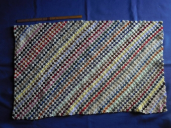 残り毛糸でブランケット1-180314