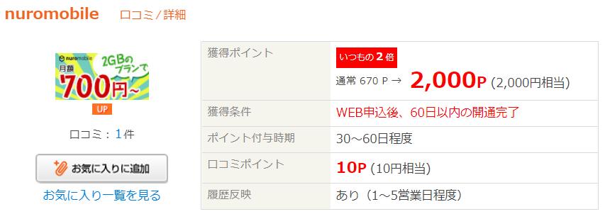 ライフメディア nuroモバイル