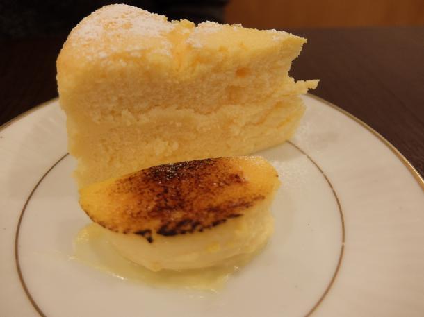 ブリュレとチーズケーキ