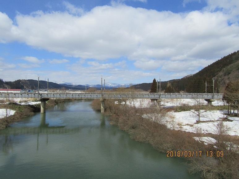 二ツ井、きみまち坂トンネル鉄橋1