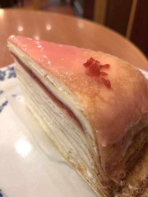 ドトールコーヒーショップ 桜のパリパリチョコミルクレープ