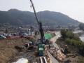 利光地区築堤護岸(その1)工事進捗状況