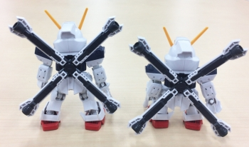 SDガンダム クロスシルエット クロスボーン・ガンダムX1のテストショット (2)