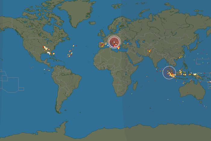 落雷情報をリアルタイムで確認3