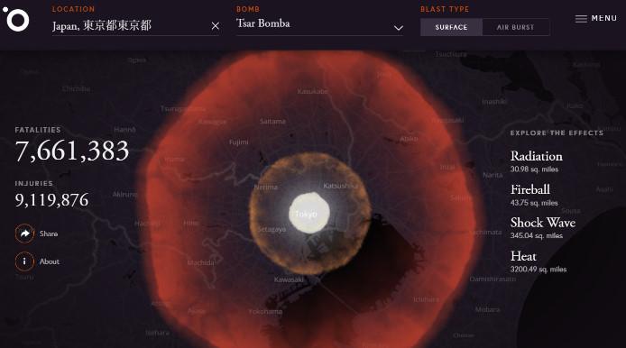 核爆弾 被害シミュレーション6