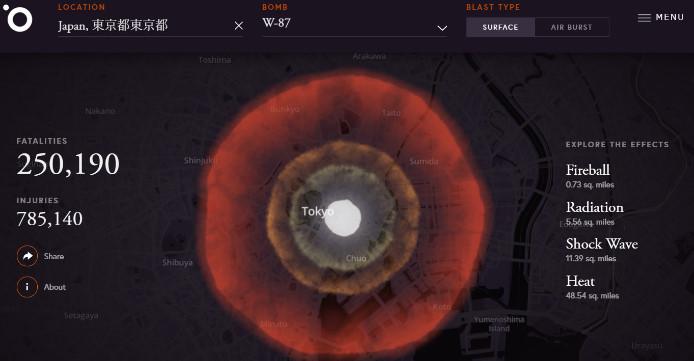 核爆弾 被害シミュレーション3
