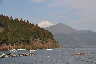 出発の富士山