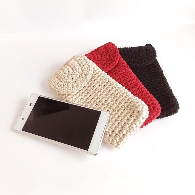 手編み雑貨 はなはんど スマホケース アイフォンケース 洗える