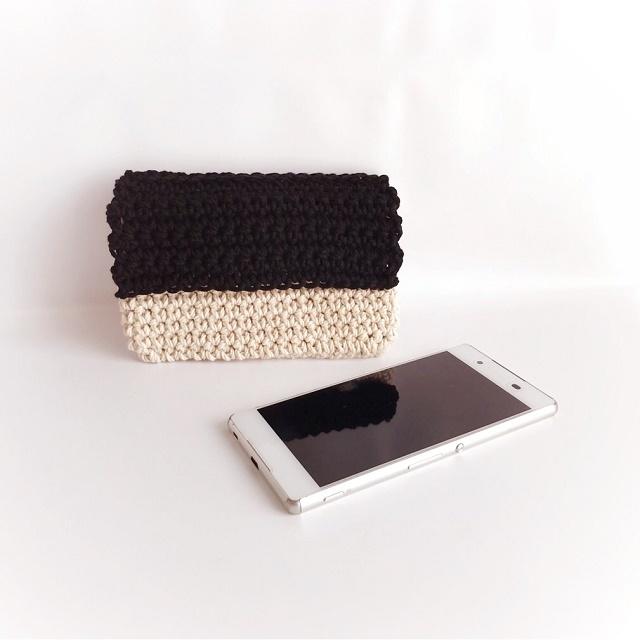 手編み雑貨 はなはんど コットン スマホケース アイフォンケース 洗える