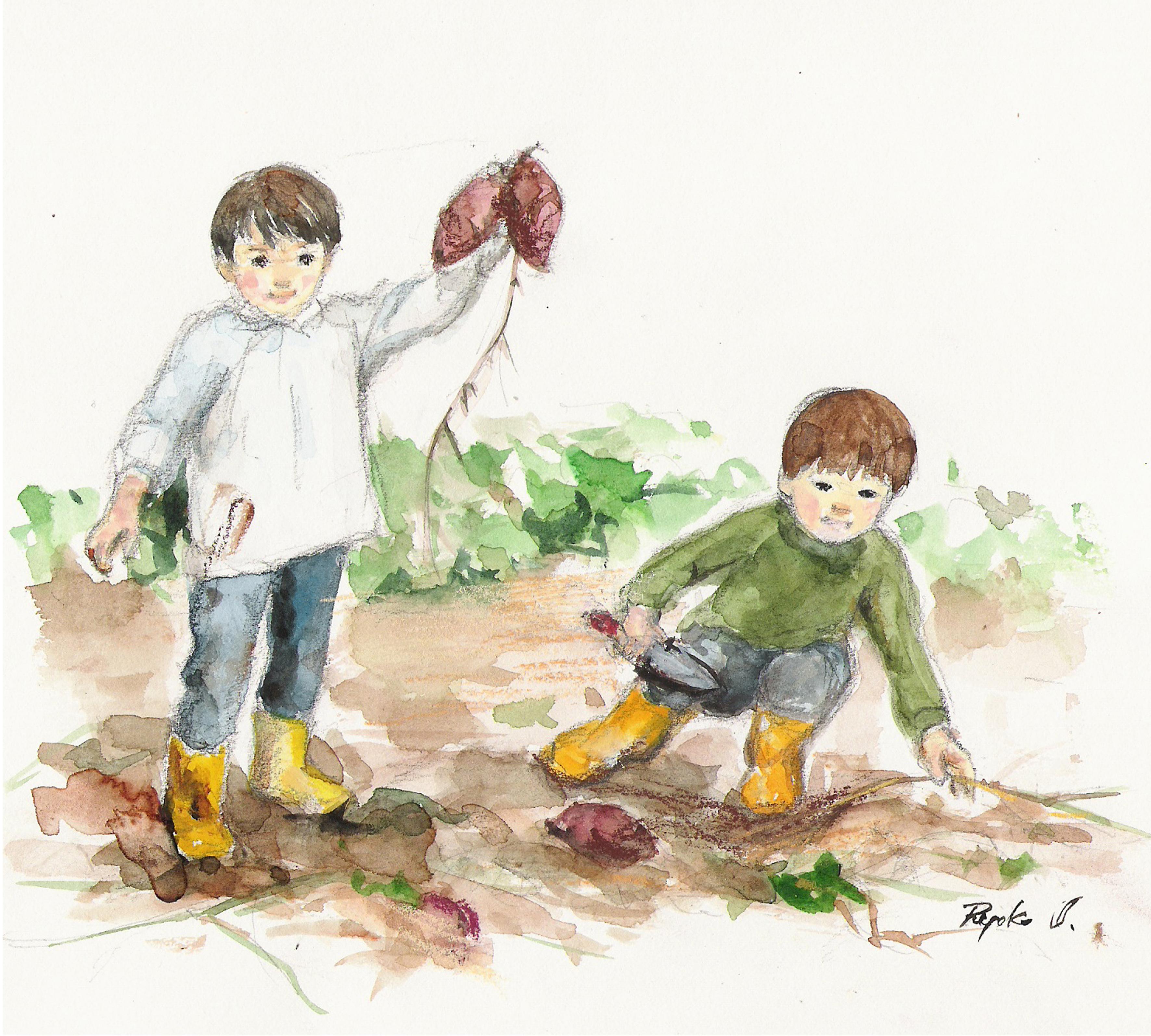 ⑧秋・芋ほり