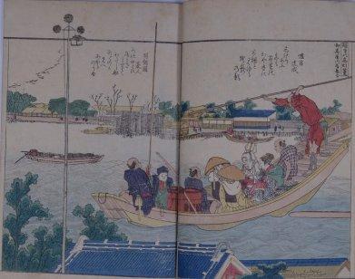 榧寺の高灯篭(北斎)