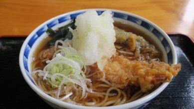 ゆず味天ぷら蕎麦・アップ