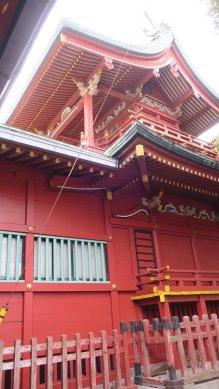 横浜浅間神社、本殿二階建て浅間造
