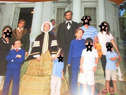 リンカーン大統領家族と