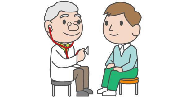 お医者さんと男性の患者さん
