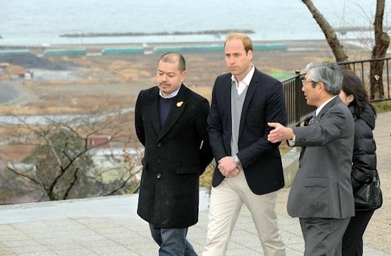 ウィリアム王子が日本を初訪問