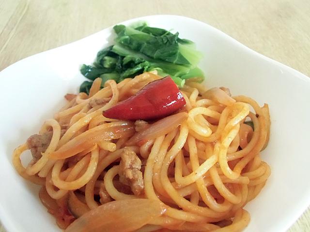 スパゲティの彩りに