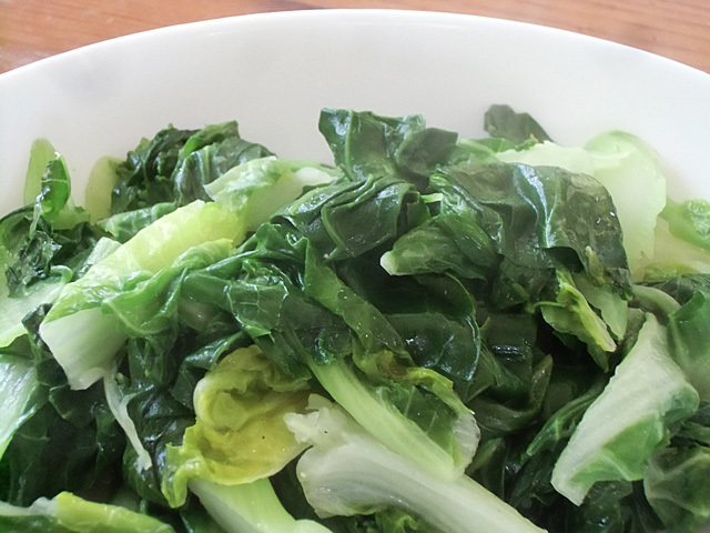 白菜の薹蒸し