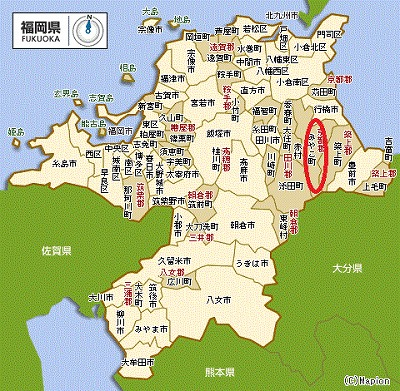 福岡地図 - みやこ町ー