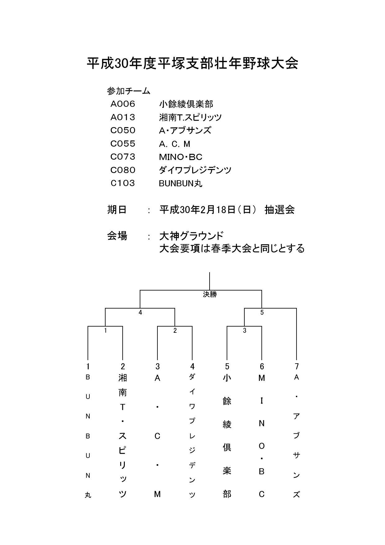 壮年トーナメント表