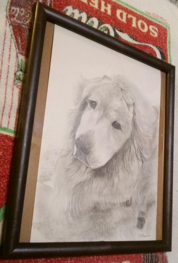 宝物の鉛筆画