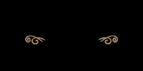シンプル筆記体黒ゴールド