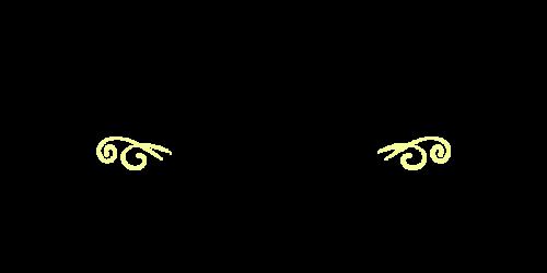 シンプル筆記体黒黄
