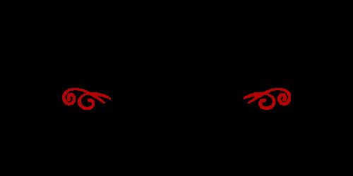 シンプル筆記体黒赤