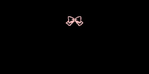 ペン風リボン黒ピンク