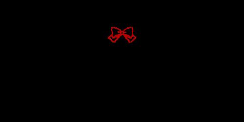 ペン風リボン黒赤