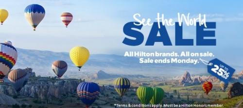 ヒルトンオーナーズ フラッシュセールで最大25%OFF ヨーロッパ、中東、アフリカ