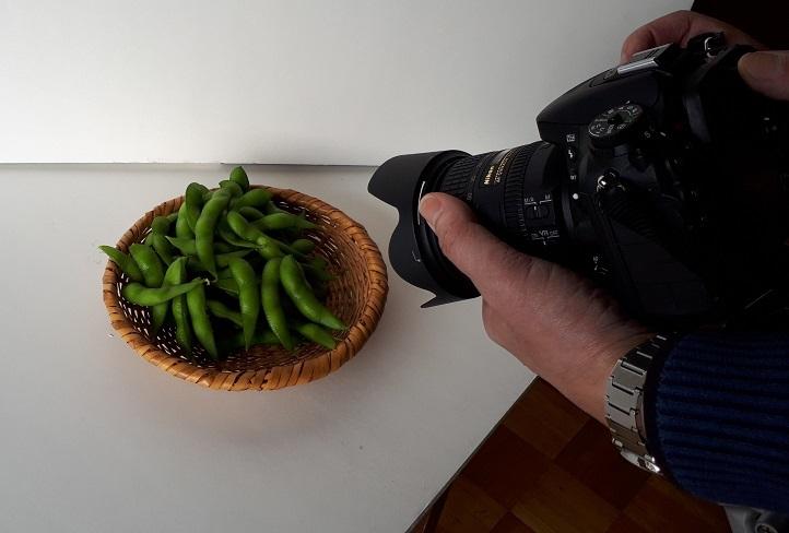 枝豆を撮影