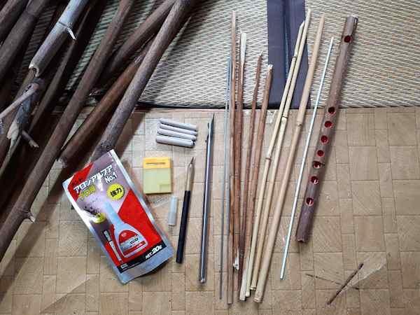 イタドリ笛作り工具