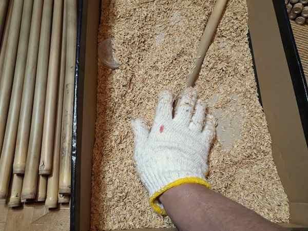 竹のクリーニング