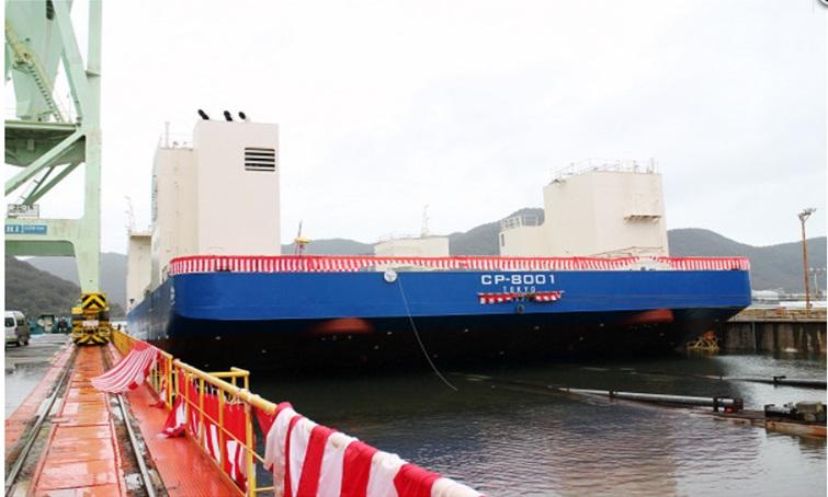 SEP船進水-2