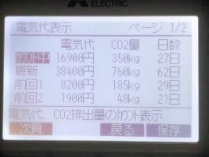 2018年2月分のヒートポンプ暖房の電気代