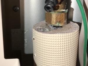 水漏れしている配管