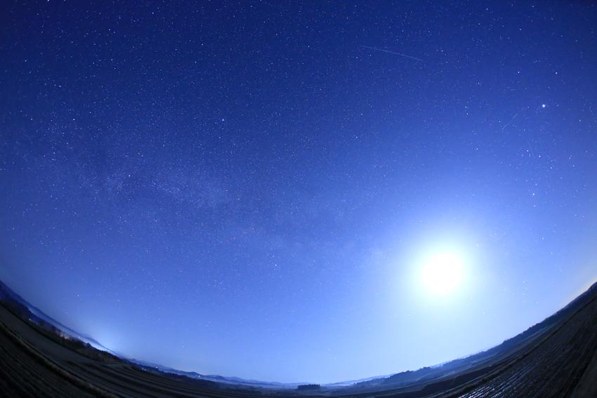 20180311天の川と月