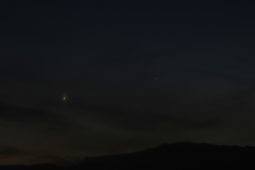 20180320西空の水星と金星
