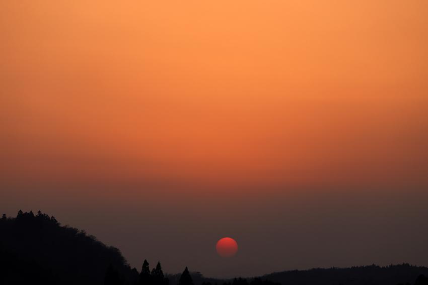 20180326春霞と夕陽