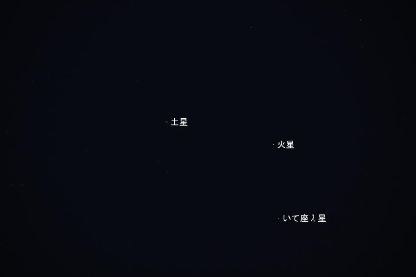 20180329土星と火星の接近